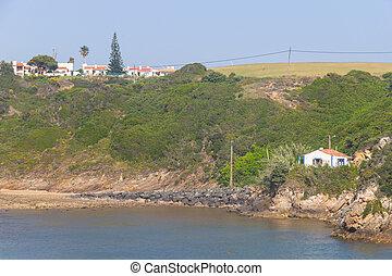 Beach and houses in Porto Covo, Alentejo, Portugal