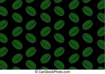 Coffee beans - vector pattern - Green coffee beans on a...