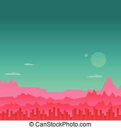 Arcade Game Background Mars Space Vector