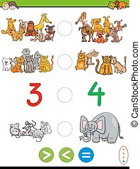 cartoon greater less or equal worksheet