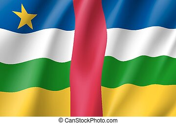 Central African Republic flag. National patriotic symbol in...