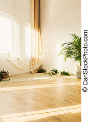 Chillzone in house - Botanic chillzone with simple hammock...