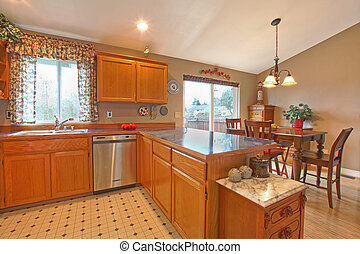 Kitchen and dining room - Private residence in Graham, WA...