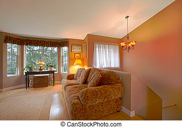 Living room and stairs - Private residence in Graham, WA...