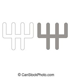 Speed shifter grey color set icon . - Speed shifter it is...