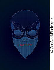 The secret agent, hacker. Mysterious man with the mask on...