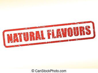 natural flavours text buffered on white background -...
