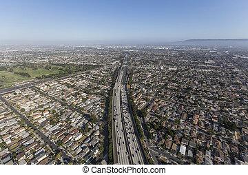 Los Angeles 405 Freeway Aerial