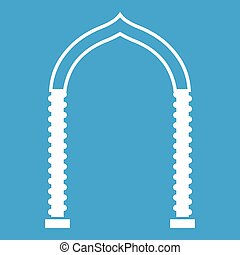 Arch icon white