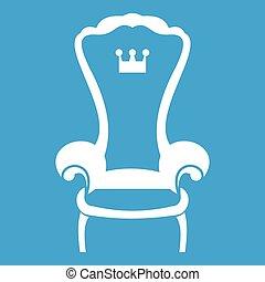 King throne chair icon white