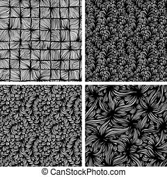 Seamless wave pattern - Set of seamless backgrounds with...