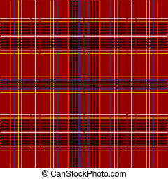 Tartan Texture - Abstract Background - Detail of Red Tartan...