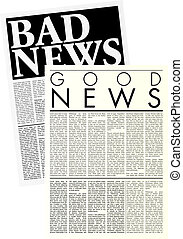 periódicos, Lorem, Ipsum, copia