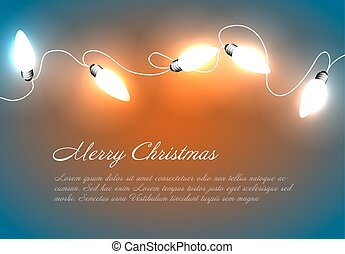 Vector Christmas background with chain lights