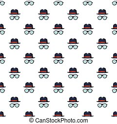 Black hat and glasses pattern