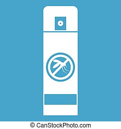 Mosquito spray icon white isolated on blue background vector...