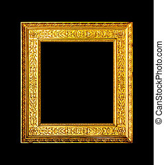 Old wood ornate frame