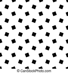 Monochrome abstract seamless geometric square pattern - vector background design