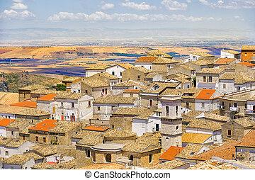 the apulia village of Bovino - Foggia province - Italy and...