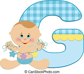 Baby's alphabet - Baby's illustrated ABC alphabet