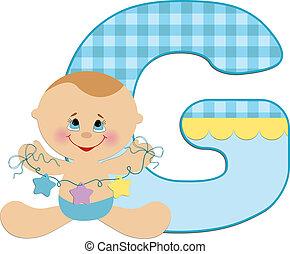 Baby's alphabet - Baby's illustrated ABC alphabet