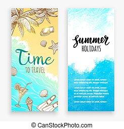 Summer banner templates.