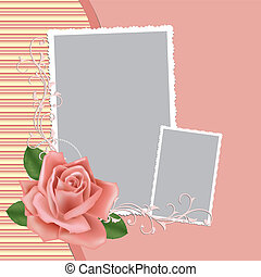 Blank wedding photo frame or postcard - Blank wedding photo...