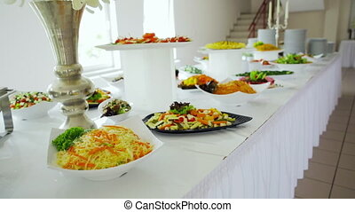 buffet: salads are nice on the table.