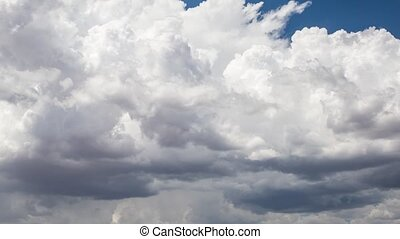 Time-lapse Storm Clouds Over The Desert - Dramatic...