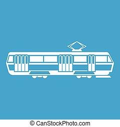 Tram icon white