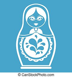 Matryoshka icon white