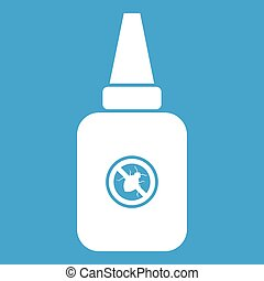 Insect spray icon white