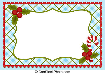 Template for babys Xmas photo album or postcard