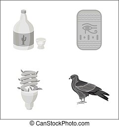 alcohol, lighting and other monochrome icon in cartoon style.history, animal icons in set collection.