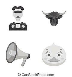 taxi, animal and other monochrome icon in cartoon style.bird, service icons in set collection.