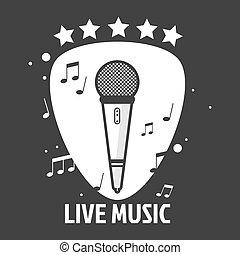 Live music emblem