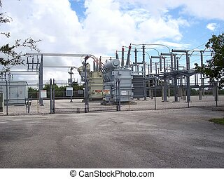 Electric Power Sub Station - Not so secure from the pubic...