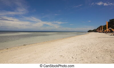 Beautiful beach on tropical island. Philippines, Bohol. -...