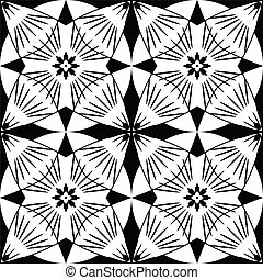 vector black and white ornament