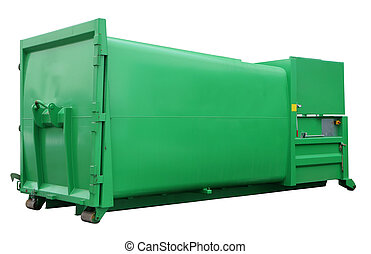 modern  steel green  container