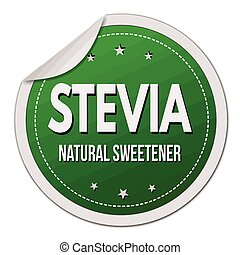 Stevia label or sticker on white background, vector...
