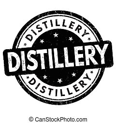 Distillery sign or stamp on white background, vector...