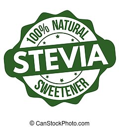 Stevia sign or stamp on white background, vector...