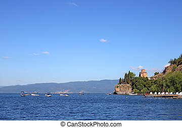 Jovan Kaneo church Ohrid Macedonia landscape