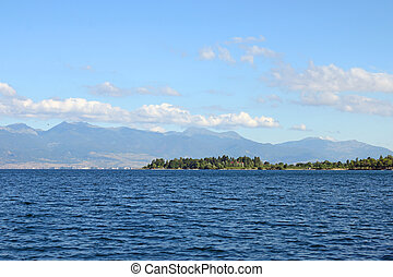 Ohrid lake Macedonia landscape summer season
