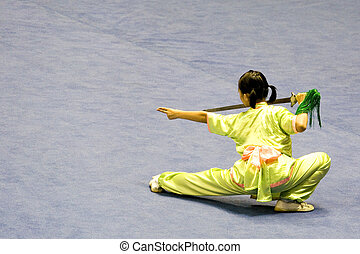 Chinese Martial Arts Wushu - Chinese martial arts exponent...