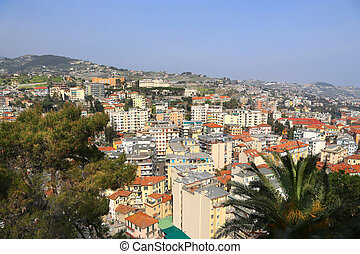 View of Sanremo (San Remo) on Italian Riviera - Sanremo or...