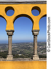 Pena National Palace - Sintra - Lisbon - Portugal - View...