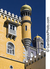 Pena National Palace - Sintra near Lisbon - Portugal -...