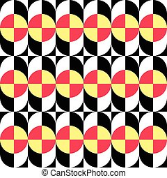 60-2 - Seamless Curved Shape Pattern. Vector Background